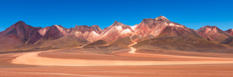Multi coloured hills in the Siloli Desert