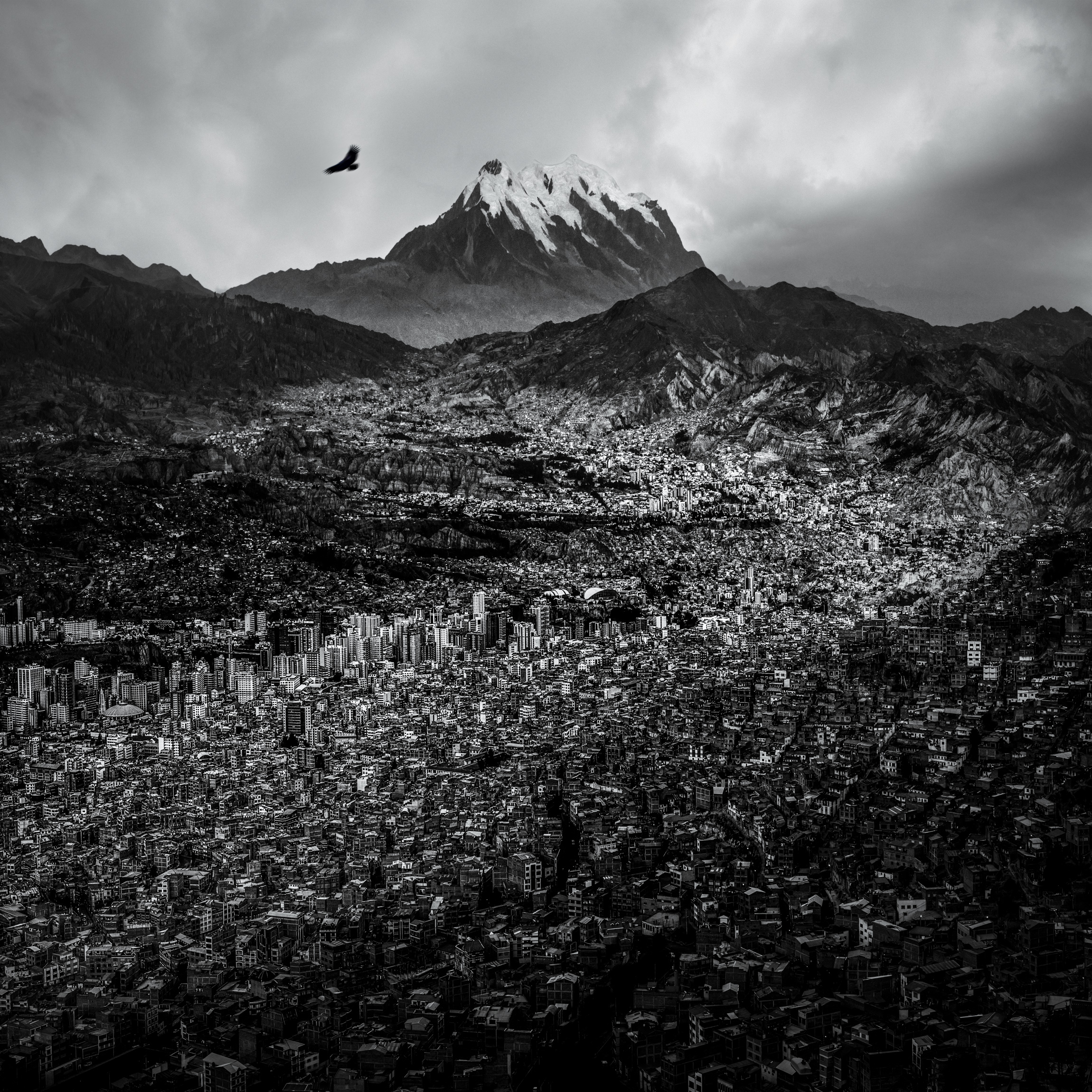 1st Place Landscape Category - La Paz and Illimani from El Alto
