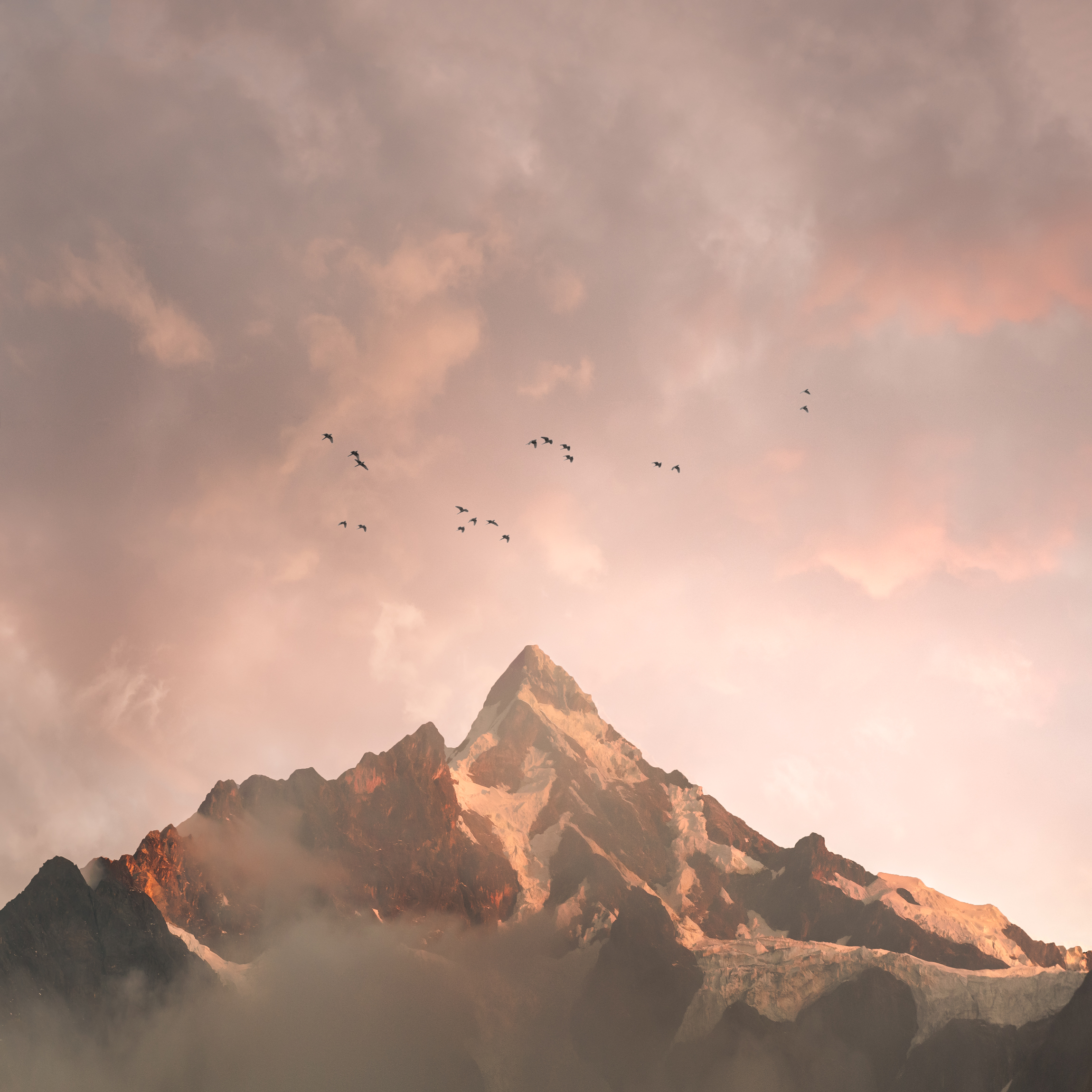 2nd Place Sunrise/Sunset Category - Sunrise over Nevado Humantay (Salkantay Trail, Peru)