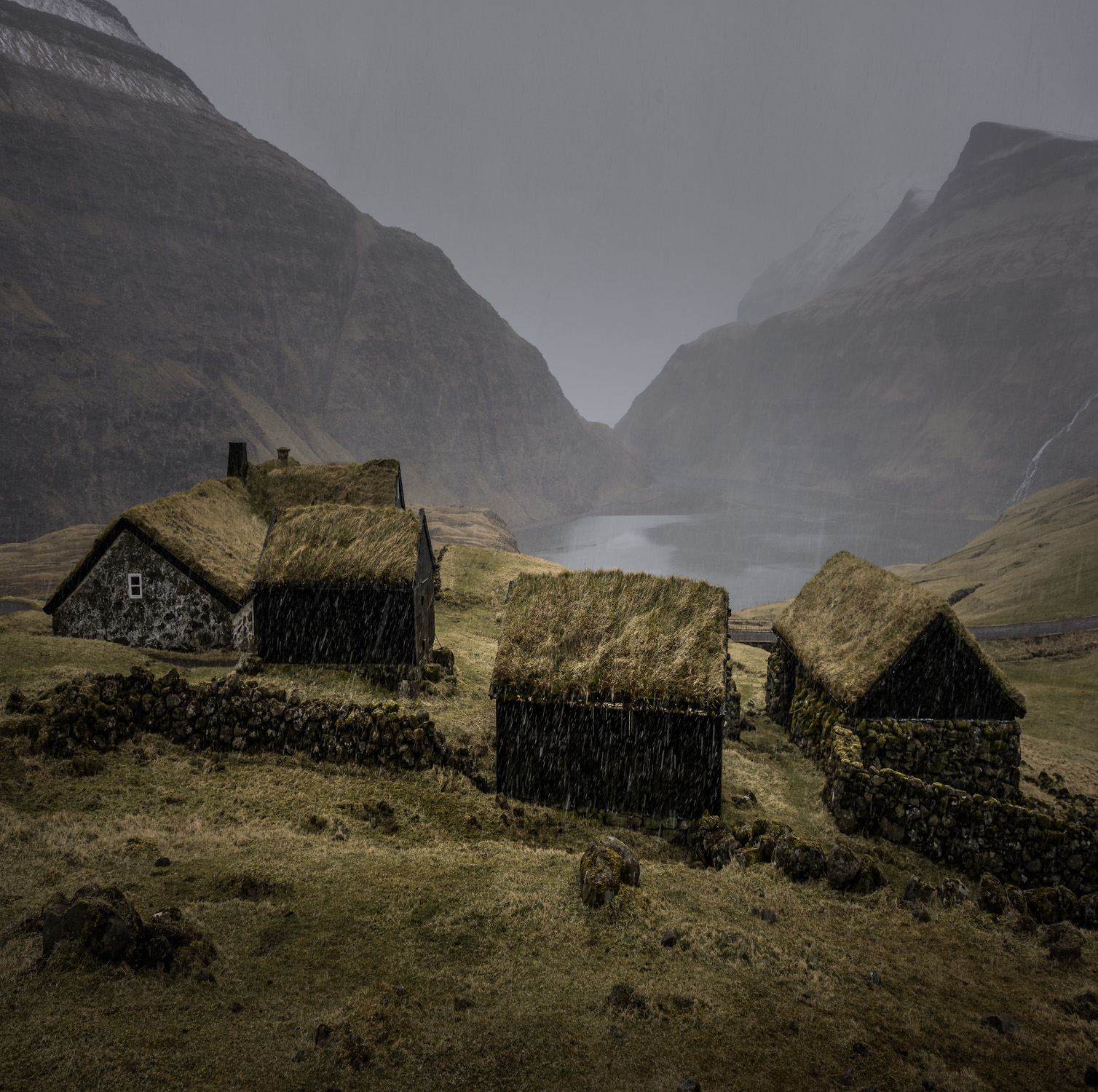 Grass Roofed Huts