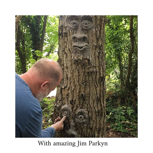 Making and shaping and wonder and imagination with the delightful and amazing @jimparkyn @amazingscenemachine . We are so happy he is joining us again this summer for Gather 🌳🌳🌳