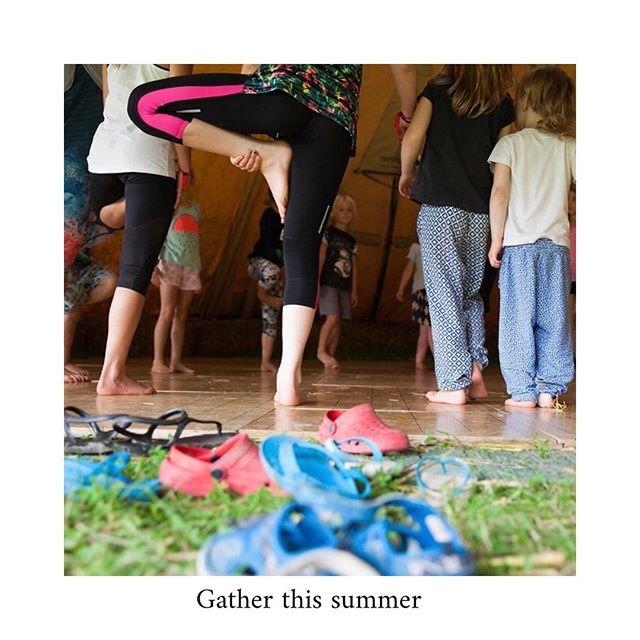 Gather 〰️ Wales' smallest festival. A new kind of holiday . A family friendly holiday of adventures in nature, music, culture, creativity, making, growing & simple pleasures, only 300 tickets per week. . . #fforest #stayplaydream #fforestgather #kidsyoga