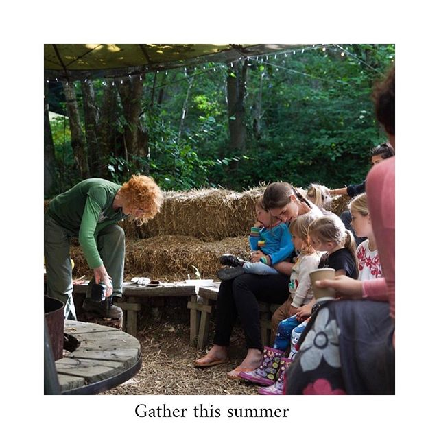 Gather 〰️ Wales' smallest festival. A new kind of holiday @fforest . A family friendly holiday of adventures in nature, music, culture, creativity, making, growing & simple pleasures, only 300 tickets per week.  Here is Tamsin and Woodland Creations 🌳🌲🌿