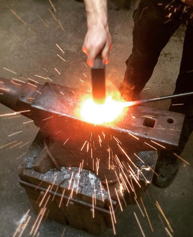 🔥The brilliant blacksmith @alexpoleironwork is going to be joining us with his forge for the second week for Gather. We are very excited 🔥