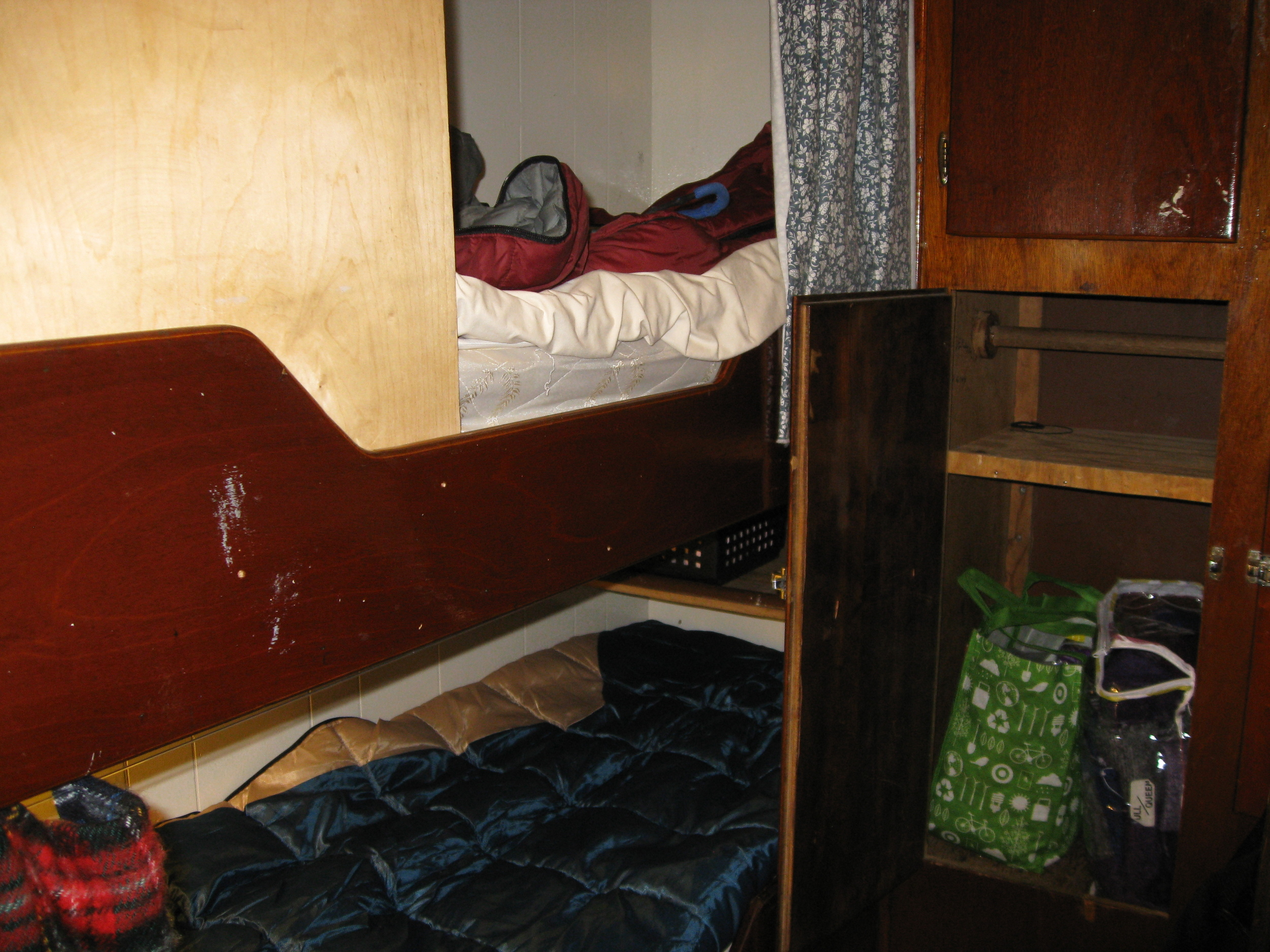 My bunk for 10 days…pretty cozy