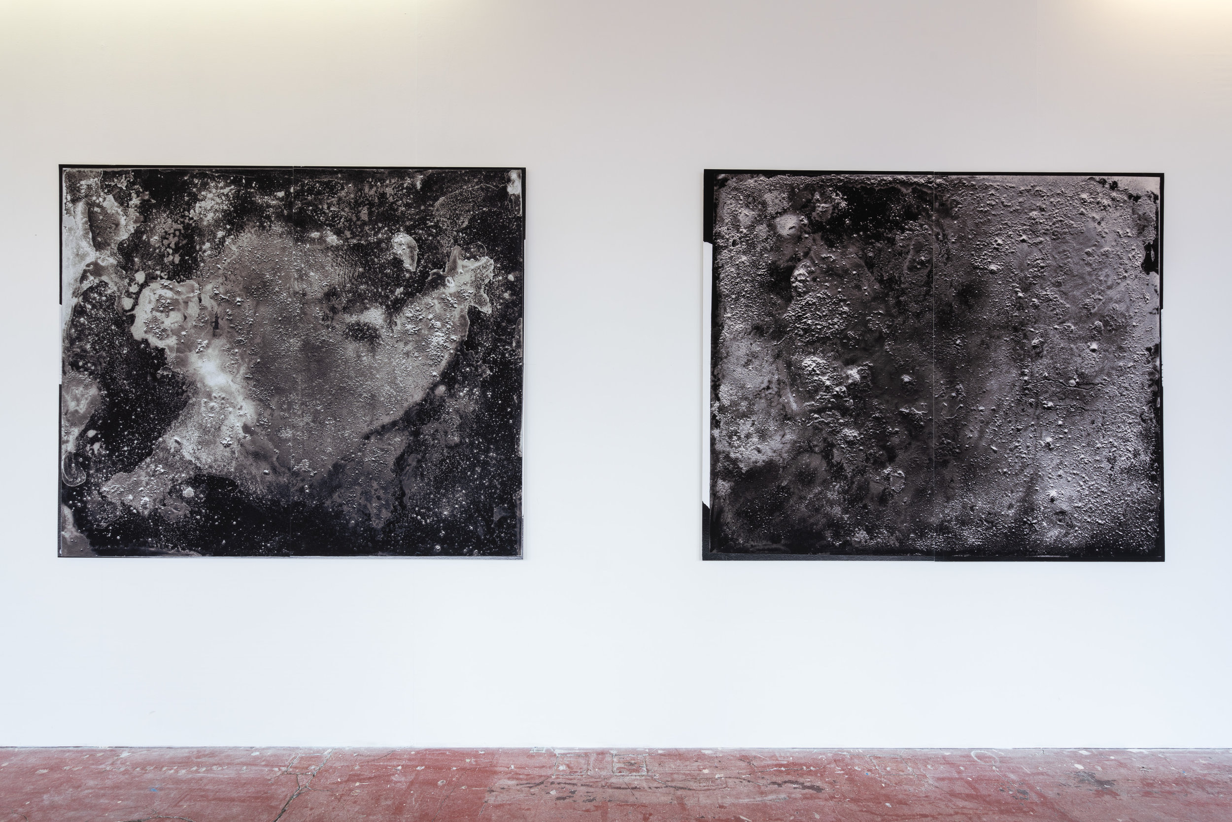 S/2016 B 6 and S/2016 B 8, installed at Backlit Gallery, Nottingham, 2019
