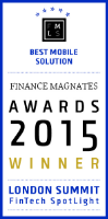 """Tradimo Interactive wins the award for """"Best Mobile FinTech Solution"""" for Little Traders."""