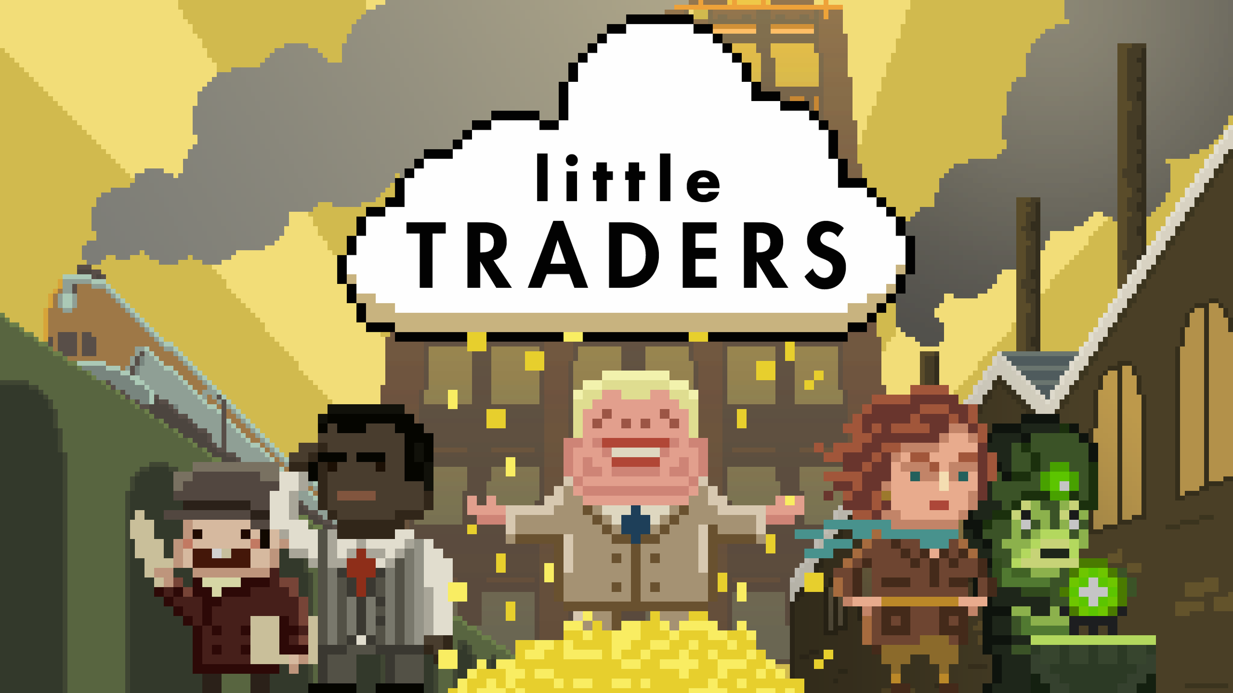 Little Traders Title Screen