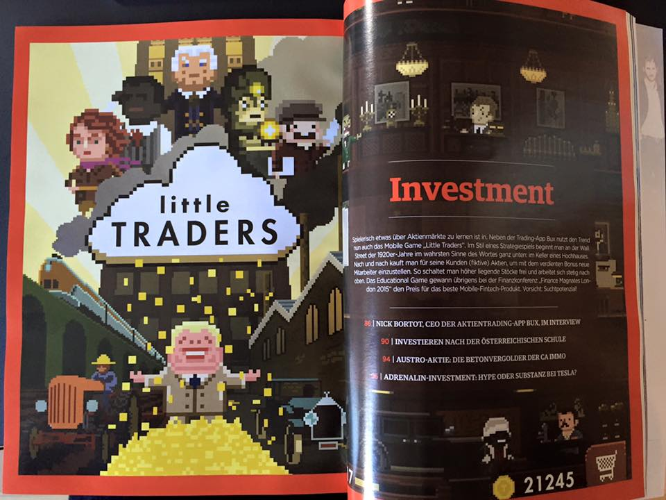 Little Traders featured in Forbes Austria, June edition 2016
