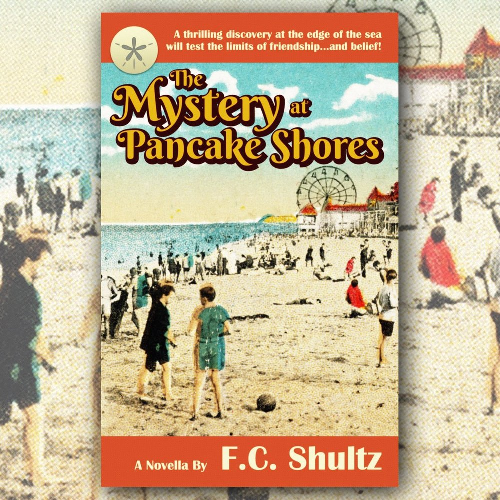 The final cover for  The Mystery at Pancake Shores.
