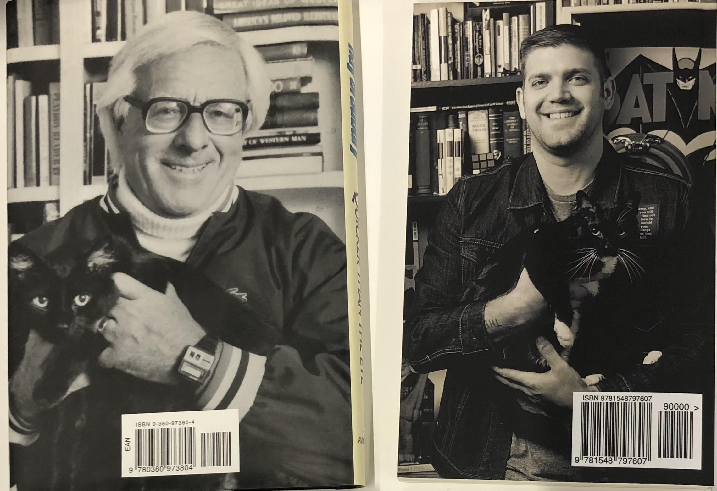 I'm a massive Ray Bradbury fan, so when my first book was released, we copied an iconic Bradbury photo for the back cover.