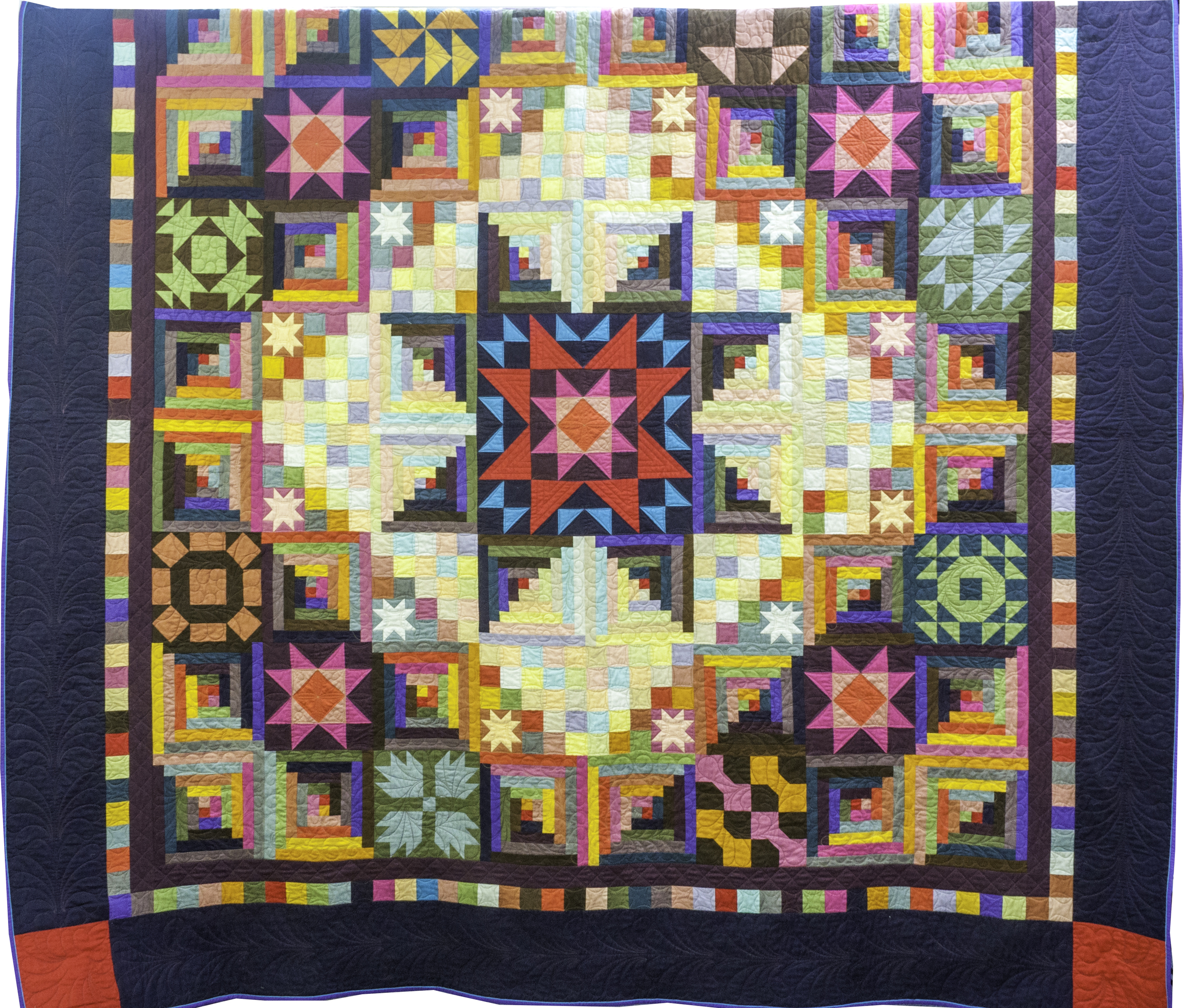 2015 Best of Show by Sarah Michael and quilted by Helia Ricci