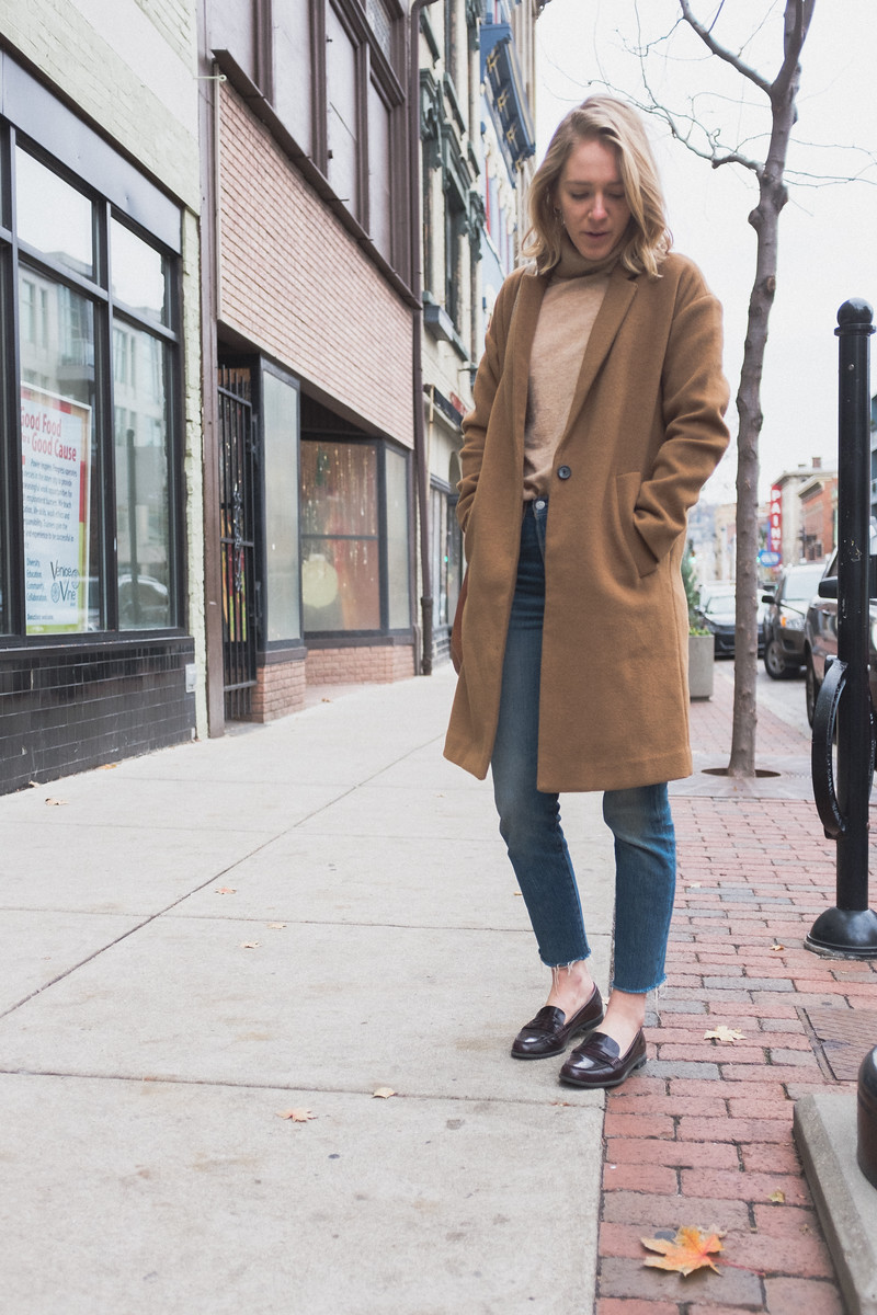 Amy with the perfect raw frayed hem.