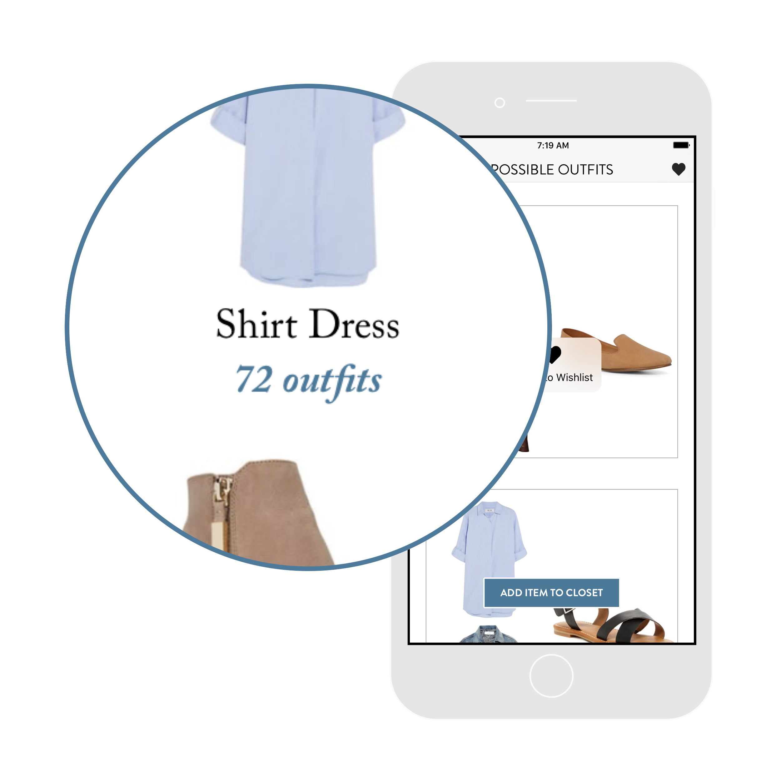 6. Stop shopping. - Add only the items that give you the most outfit possibilities. Trade impulse buys for items you love and will wear again and again.