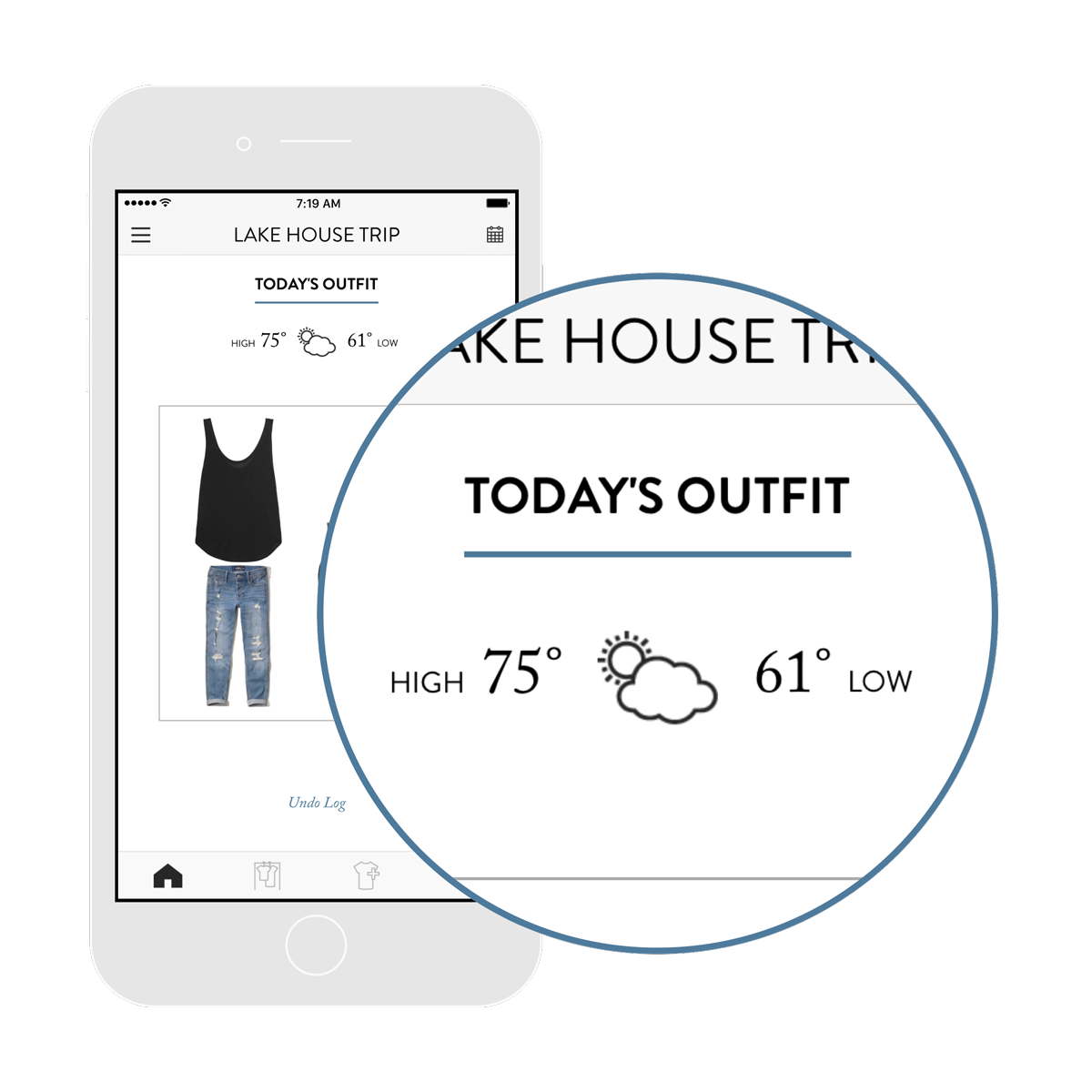 2. Get daily outfit ideas. - Personalized for your weather, occasion, and style.