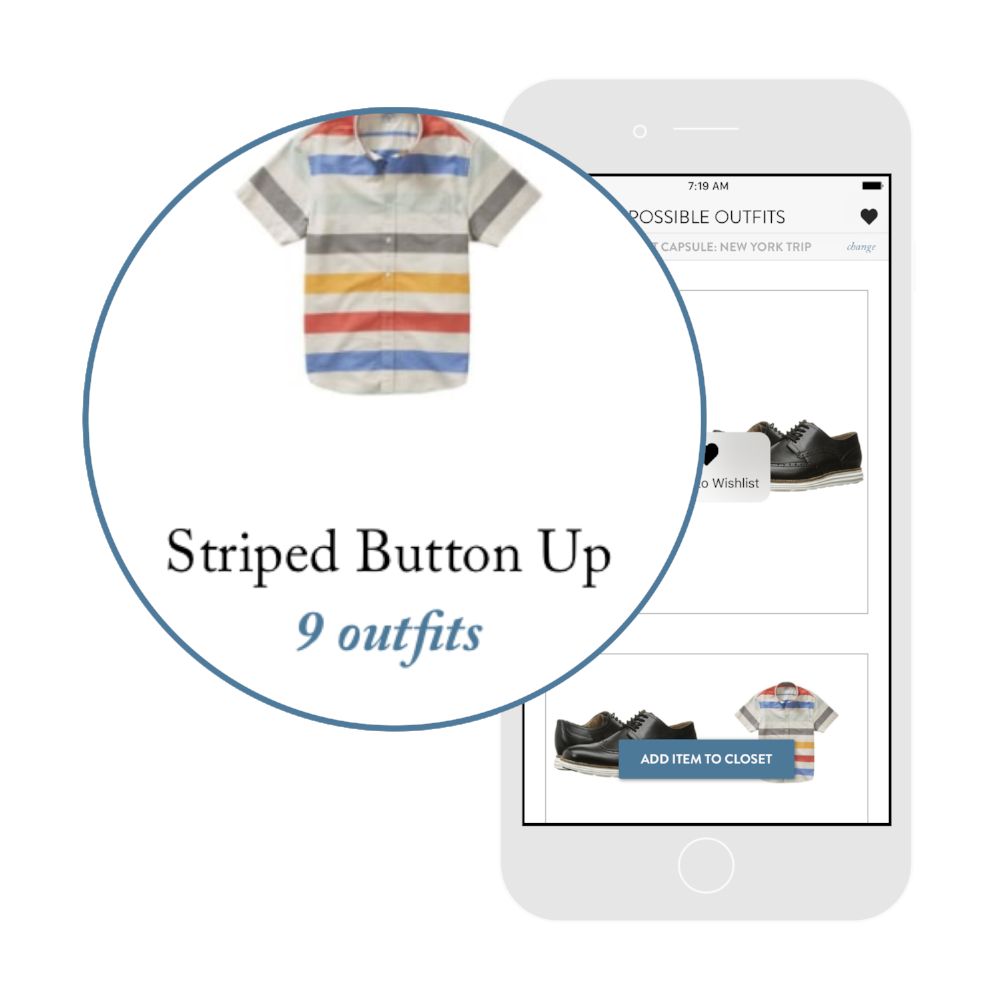 6. Stop shopping. - Before you buy something,check to see how many new outfits you can create.