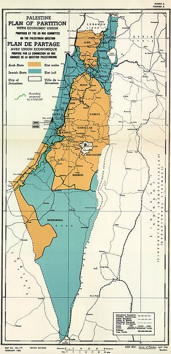 Figure Four: 'Plan of Partition', 1948. Israel minstrel committee of security.