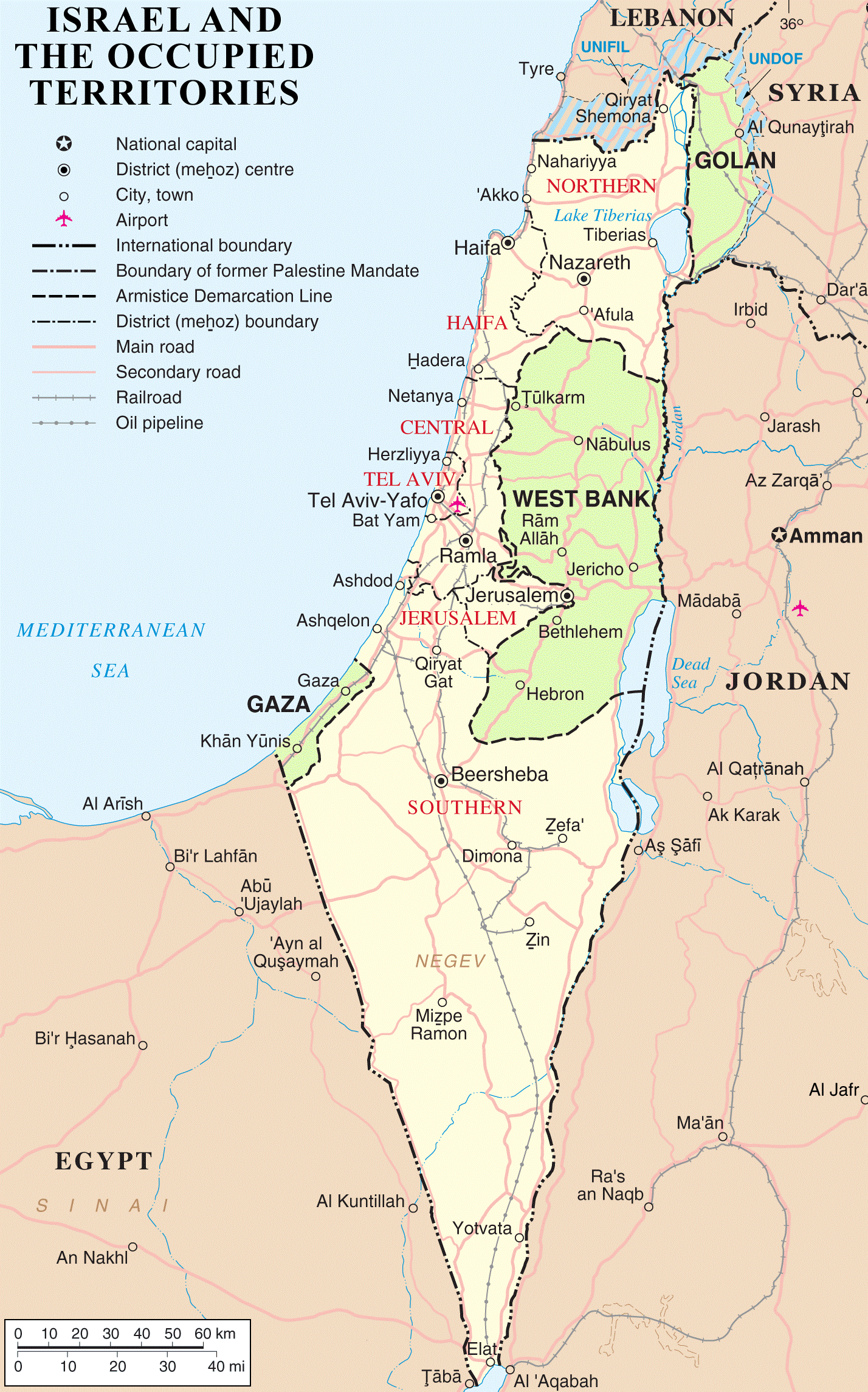 Figure 2: 'Israel and the OccupiedTerritories ', 1967. The World Post.