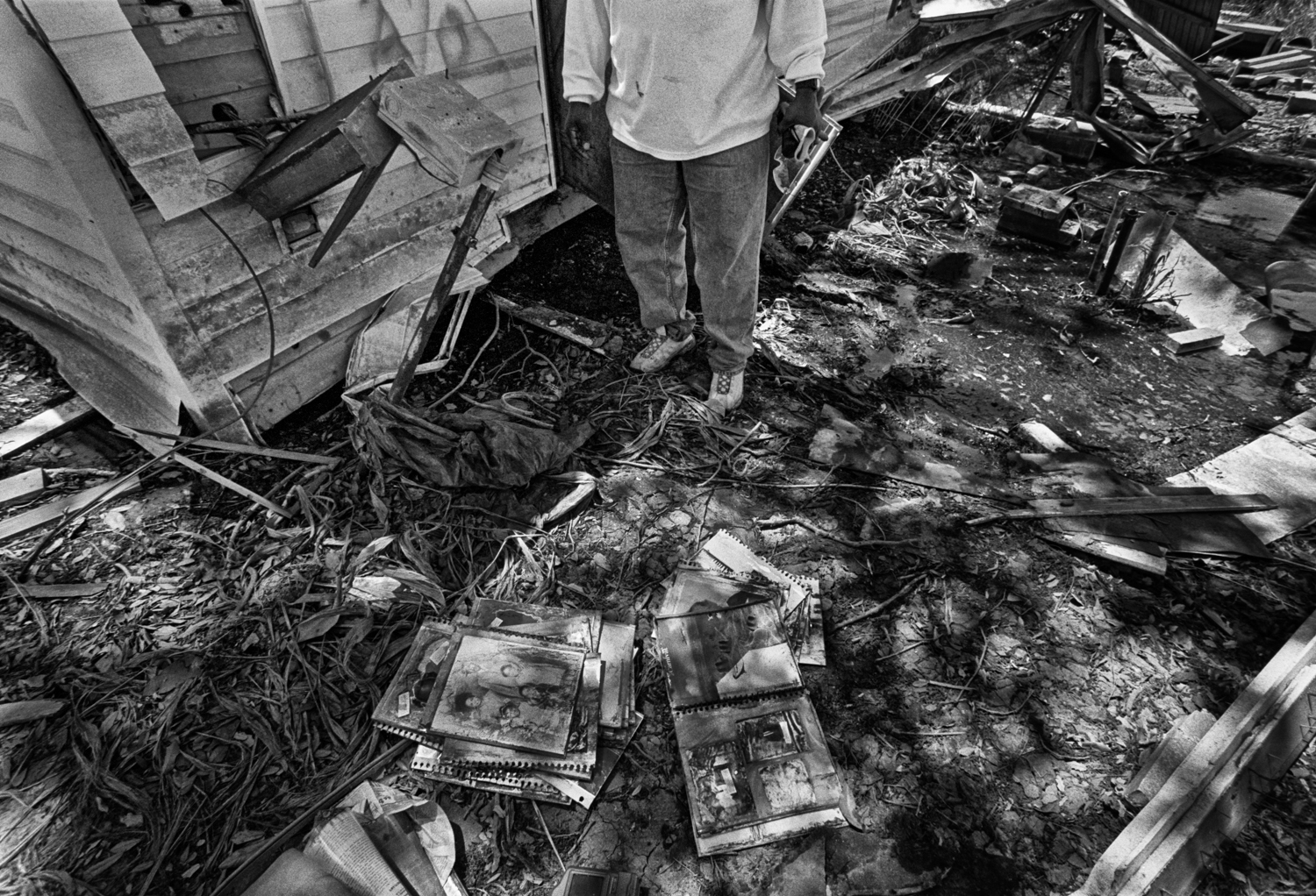 Eight months after Hurricane Katrina (April 2006) in New Orleans, La. Mix of film and digital.  Unpublished.