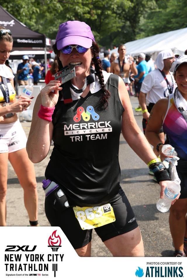 Diane Thibault-Wankmiller - 2018 NYC Triathlon Finisher