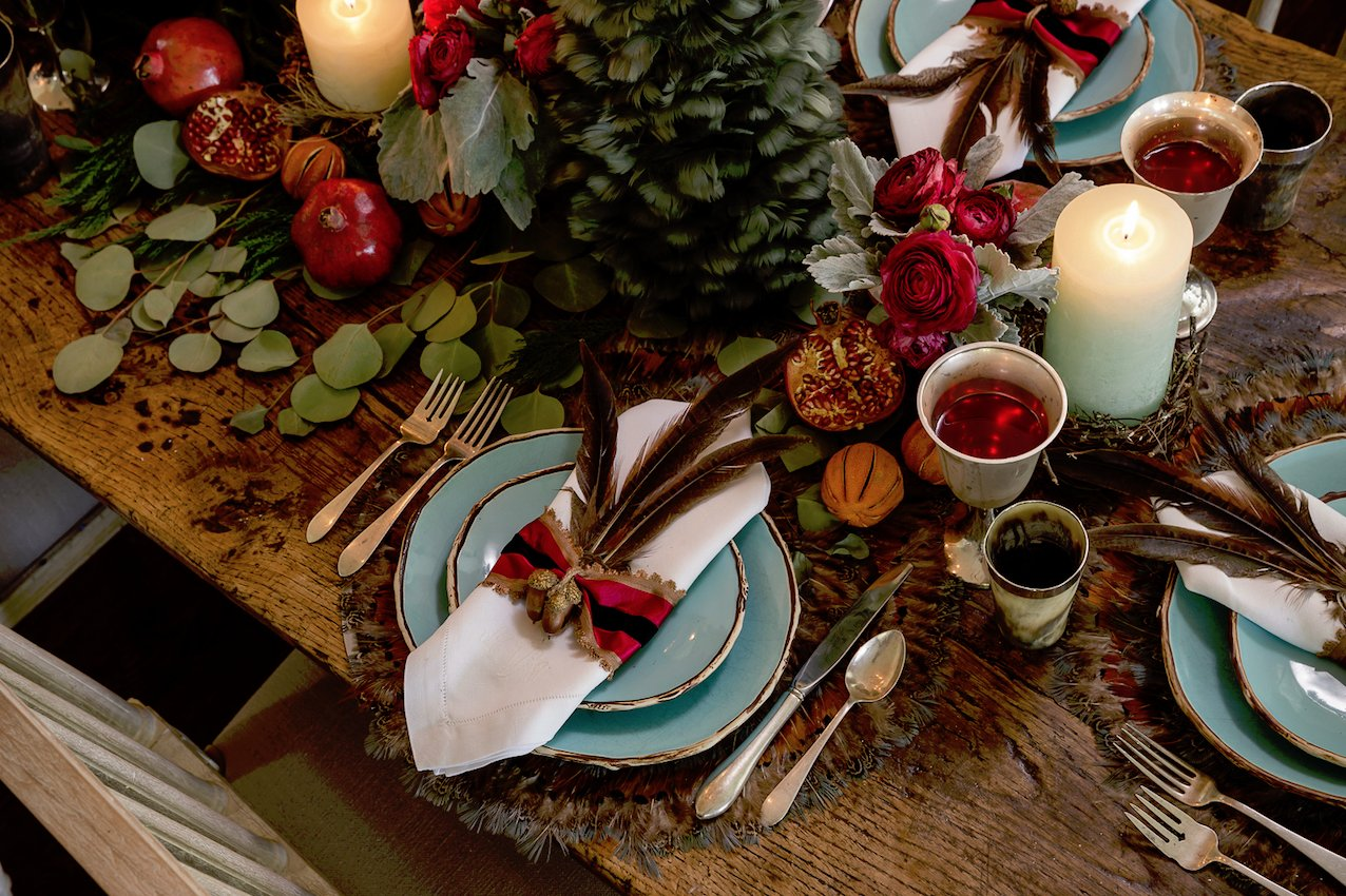 The holiday table.