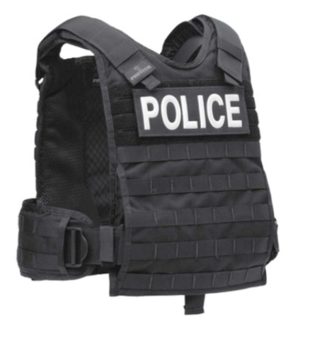Plate Carrier in Black (law enforcement)