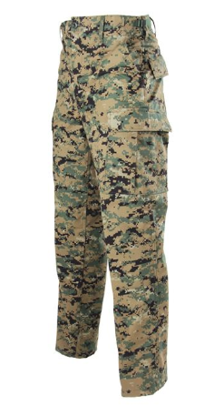 BDU Button Fly Trouser in Digital Woodland