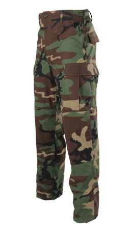 BDU Button Fly Trouser in Woodland