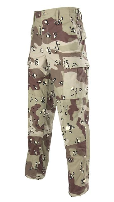 BDU Button Fly Trouser in Six-Color Desert