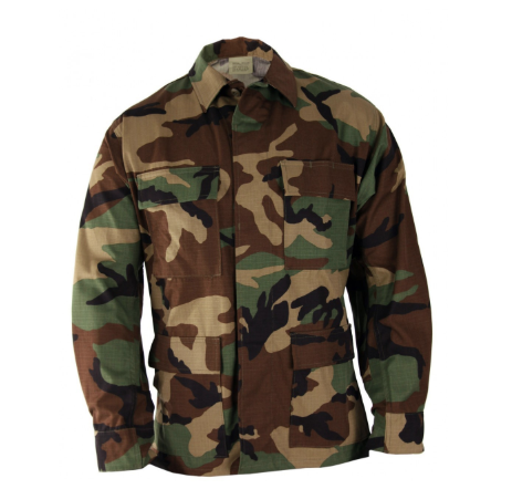 BDU Four-Pocket Coat in Woodland
