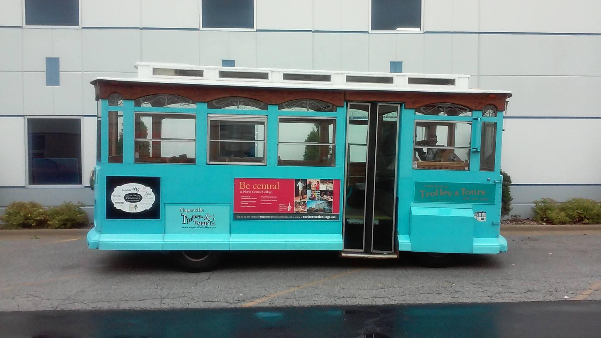 Main Street Promenade trolley ad