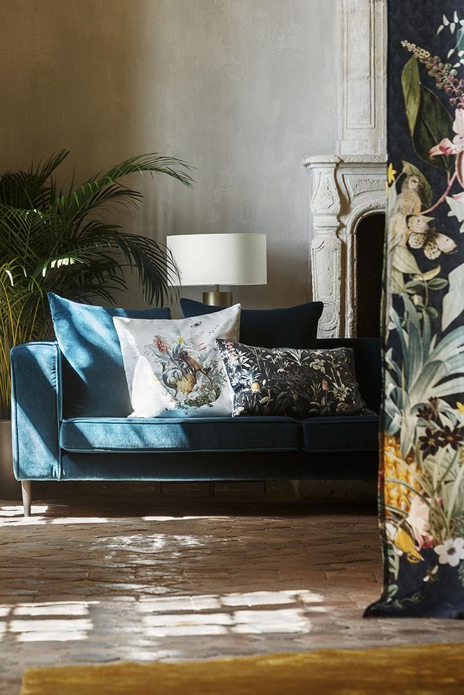 TEXTILES:   Delicious cushions, curtains & throws
