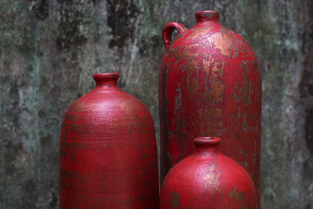 POTTERY:  Handmade vases, urns, bowls, lanterns & lamps to complete a room with elegance