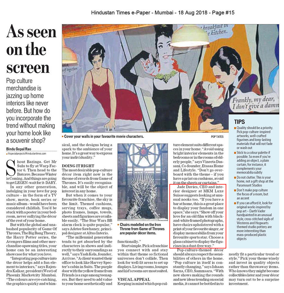 Hindustan Times - Estates, Aug 2018