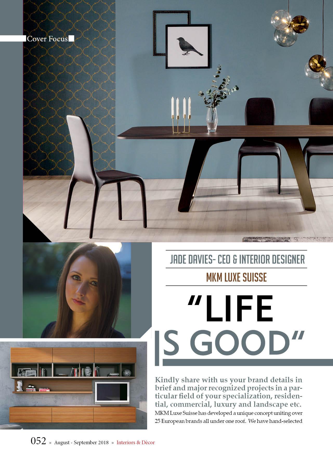 MKM Luxe Suisse - Interiors & Decor Magazine - Brand Media pg1.jpg