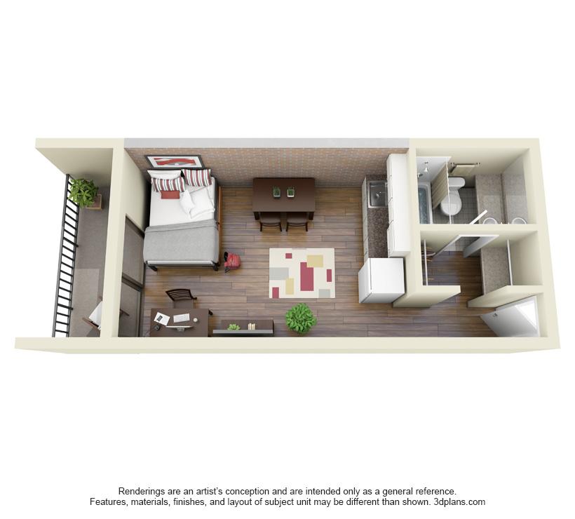 Studio - Balcony Main Kitchen
