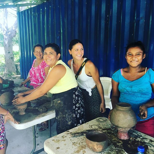 "We are hosting ""Potters for Peace"" for three days to teach our women's Cooperative the pottery trade. We are using our future ""Vocational School"" for the location. The women are very excited about this opportunity to learn about pottery and to be able to help them sustain their incomes through tourism! Please share with others interested and knowledgeable about pottery! #education #jiquilillo #femalepower #stayplaychangetheworld #pottery #tourism #voluntourism #nicaragua #tradeschool"