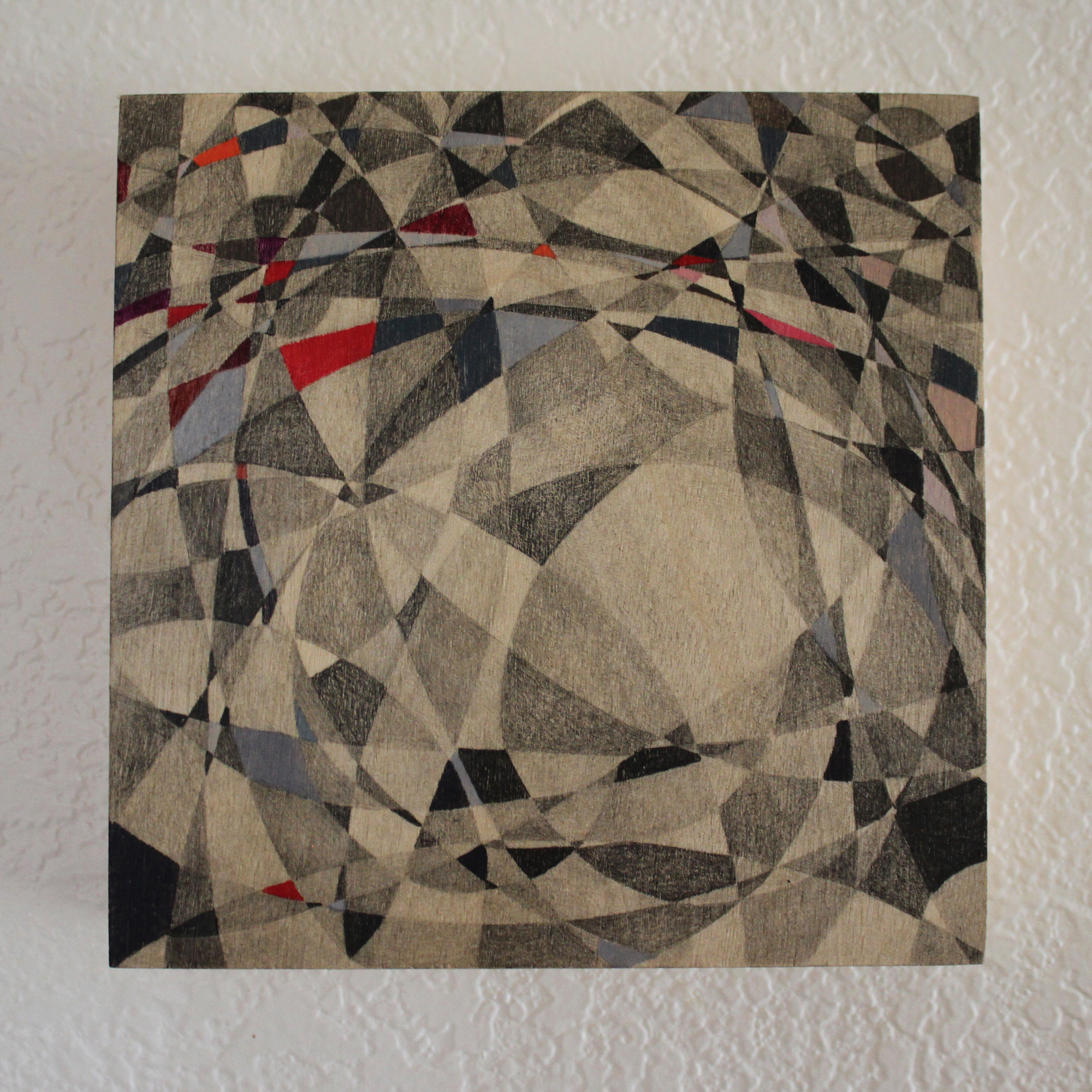 Abstract Pencil on Panel 6in x 6in 2015 Boz Schurr.jpg