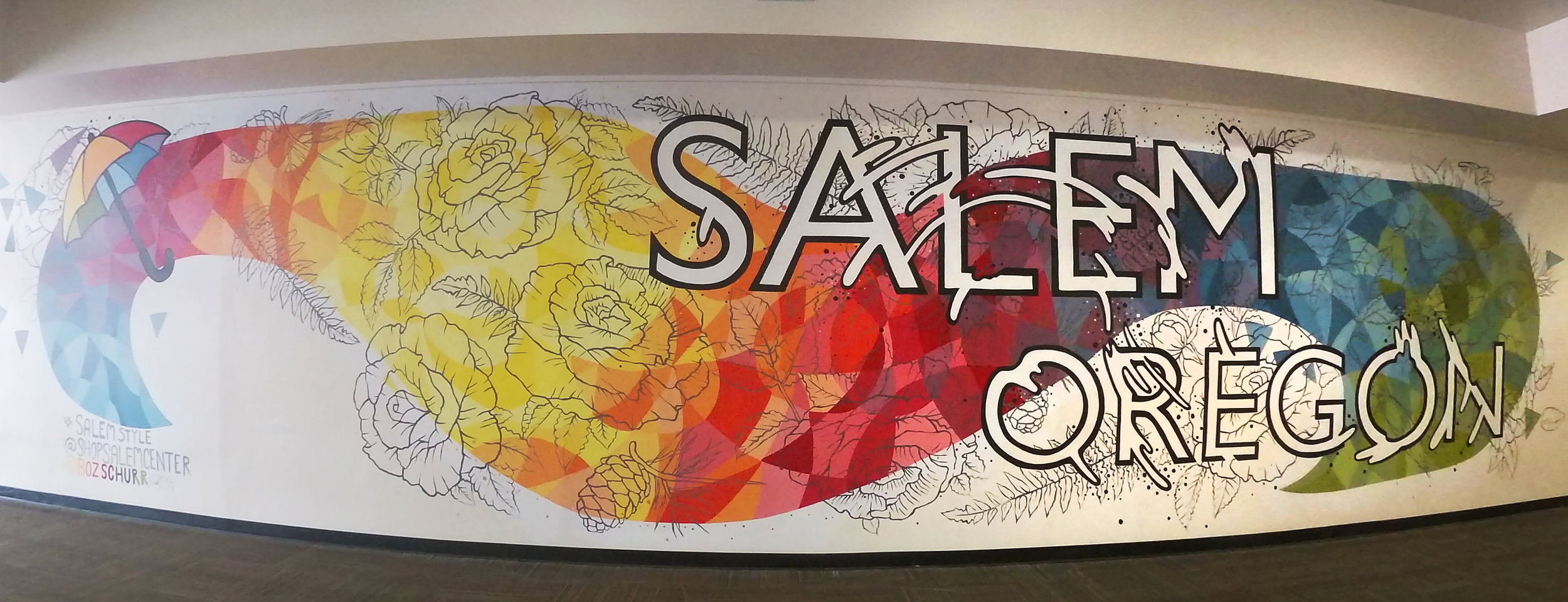 Mural for Salem Center, Salem, Oregon 2019 Check out my front page news story  HERE
