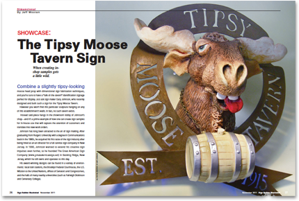 The Tipsy Moose Tavern Sign