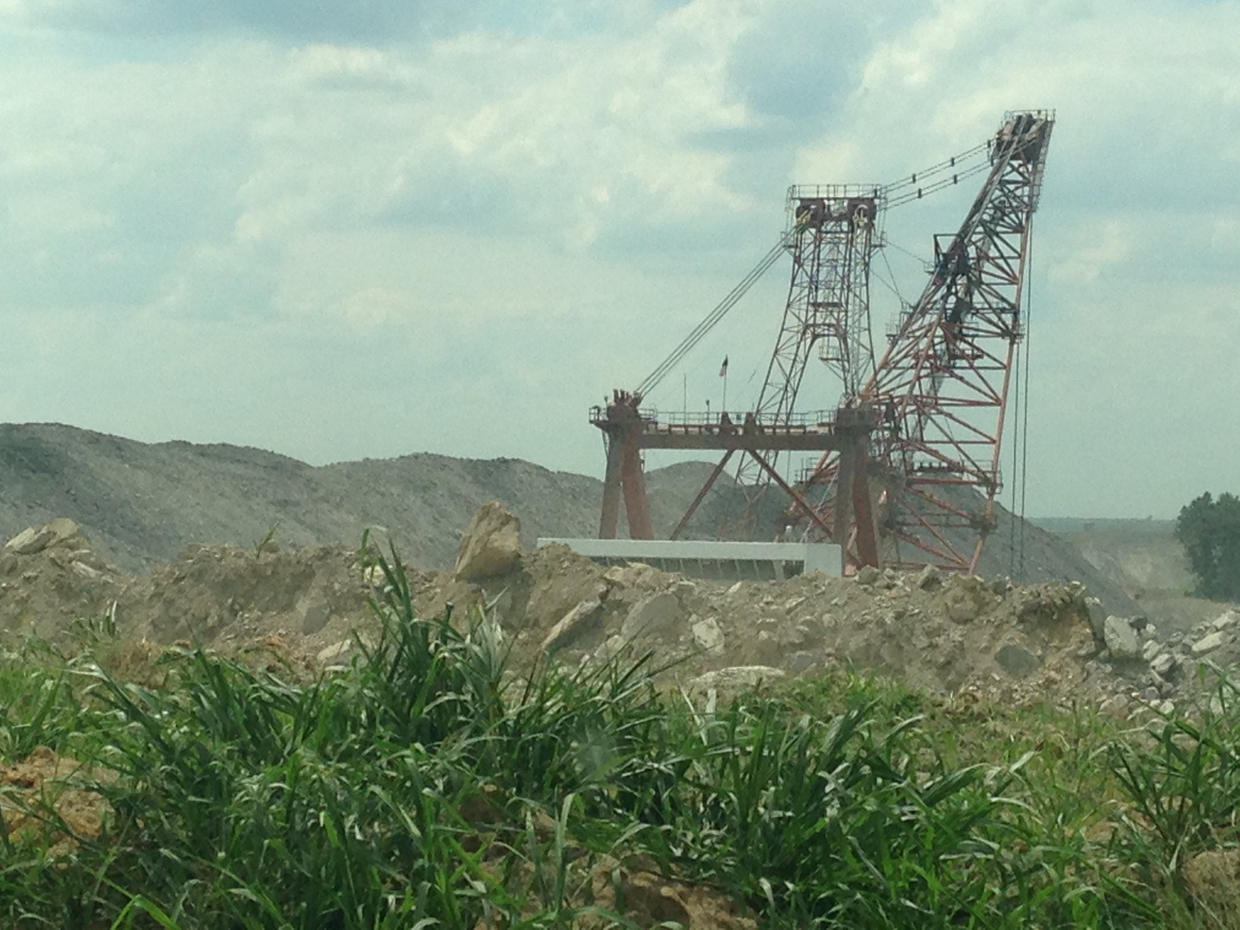Photo of a surface mine in southern Indiana.