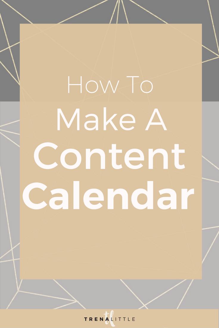 how to make a content calendar