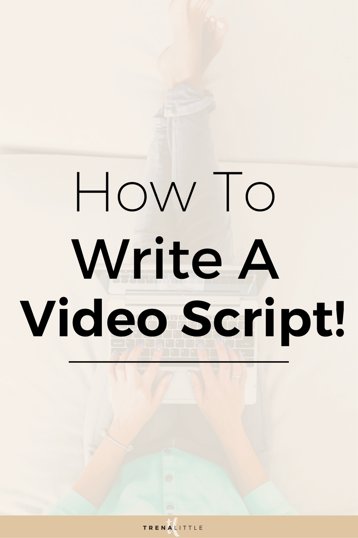 how to write a video script