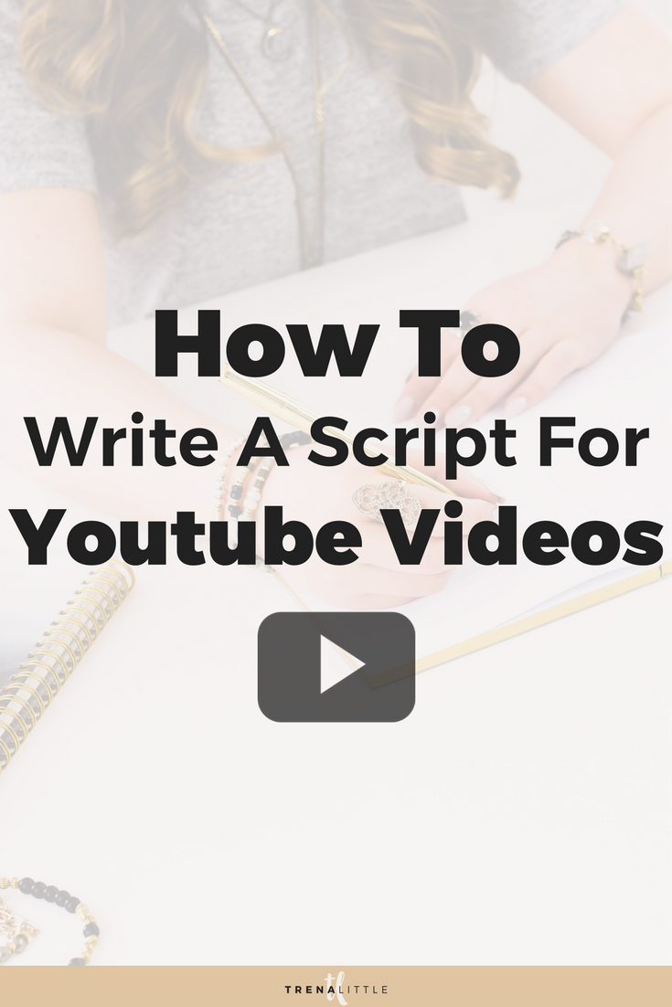 how to write a script for youtube videos