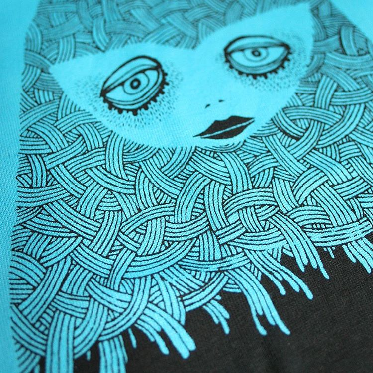 Mother spirit in print #mother #spirit #ubume #ghost #tshirtdesign #drawing #illustration #doodle #screenprinting #screenprint #print #printmaker
