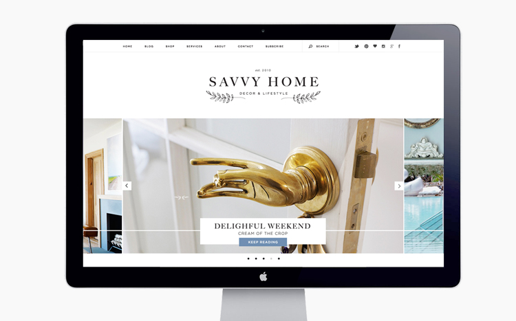 Veda House | Brand Development, Logo Design, Web & blog Design for  Savvy Home