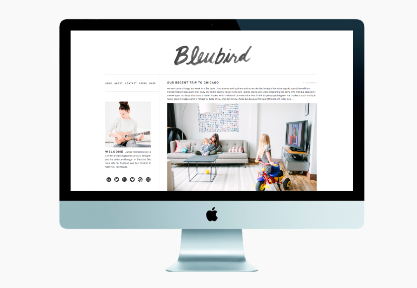 Bleubird Blog Design | Design by Jane Riley