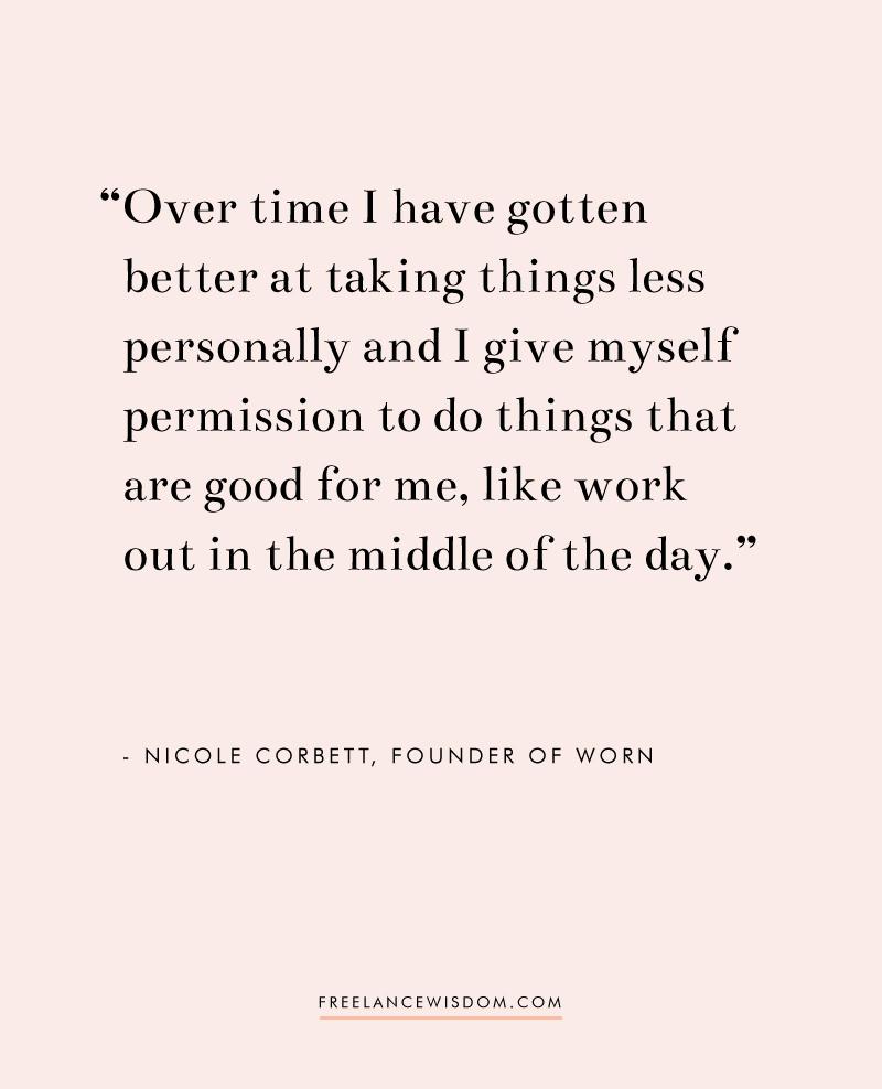 Nicole Corbett | Worn | Freelance Wisdom