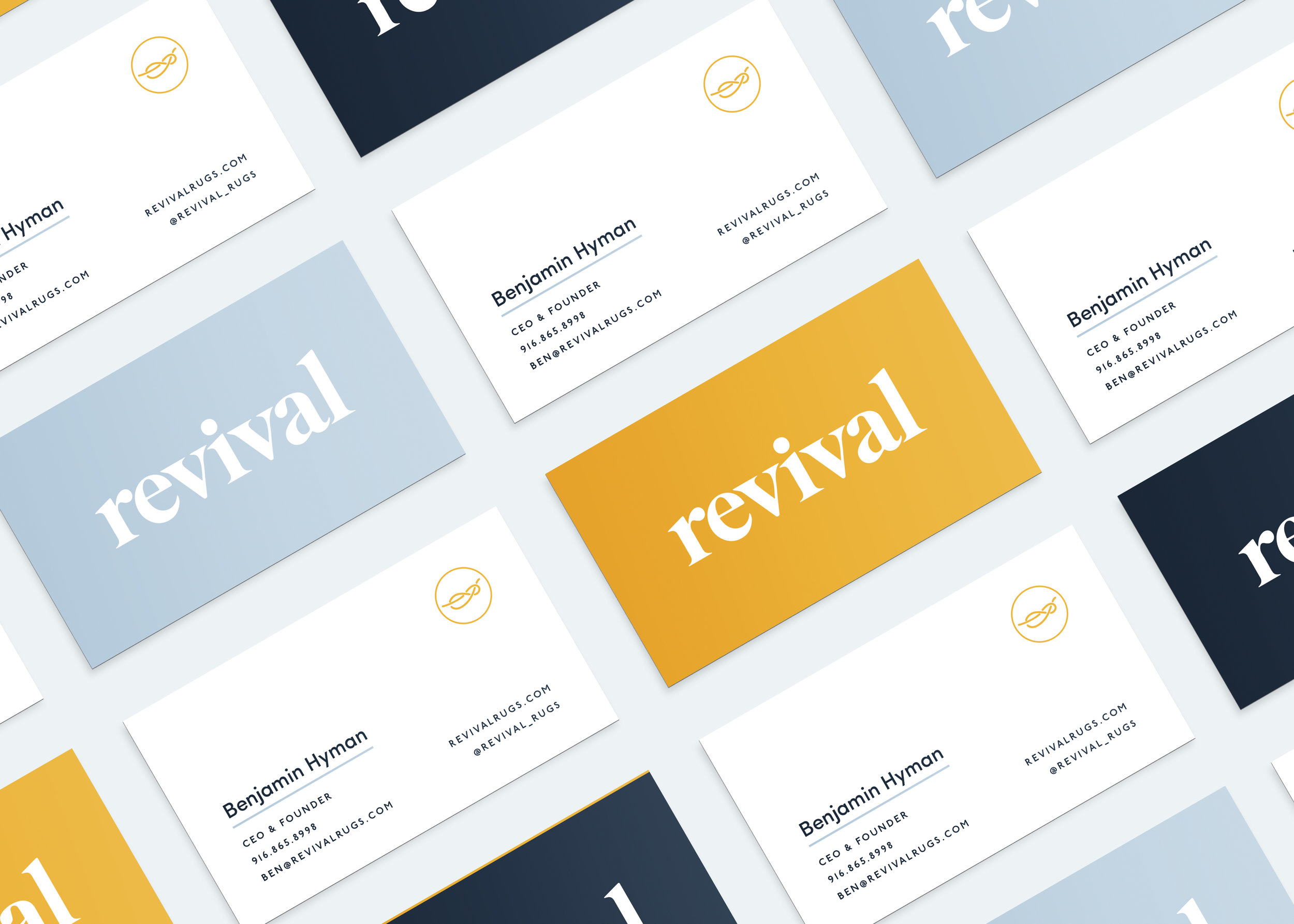 Do-Hee Kim | Revival Rugs Business Cards | Freelance Wisdom