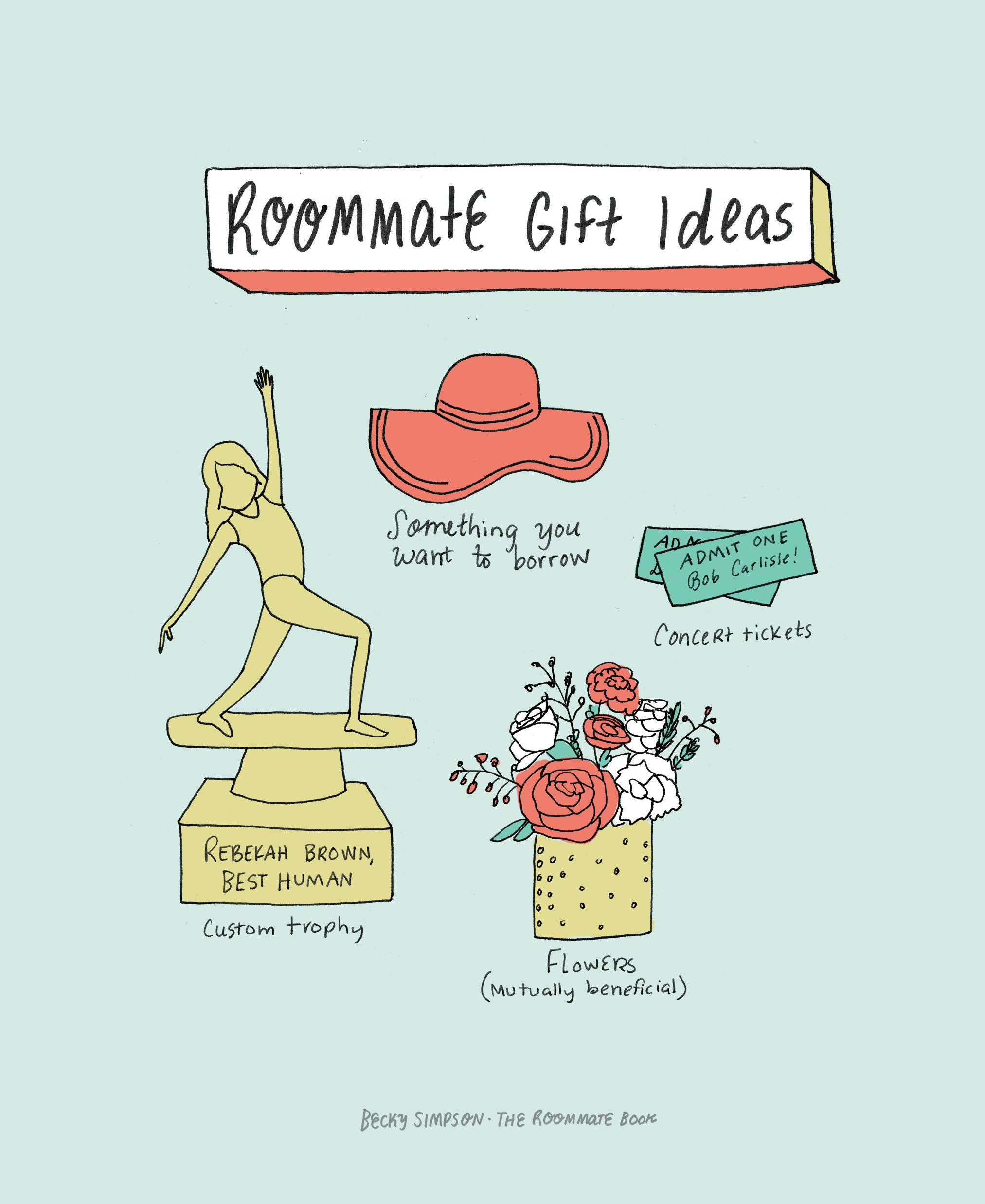 Becky Simpson | Roommate Gift Ideas | Freelance Wisdom